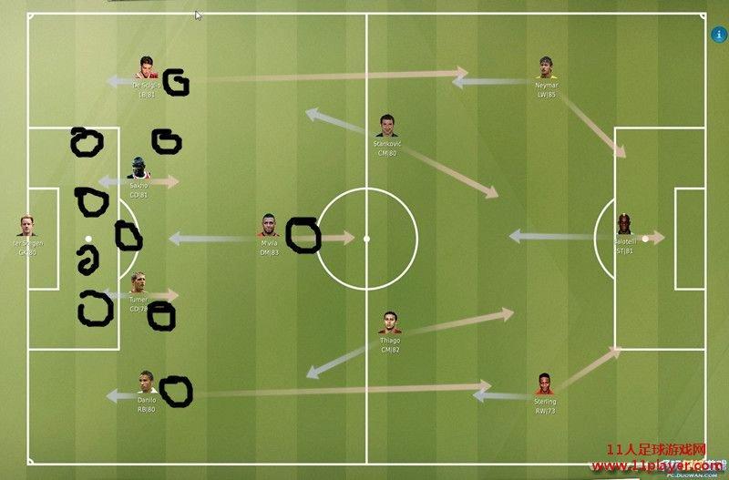 足球各部位名称图解