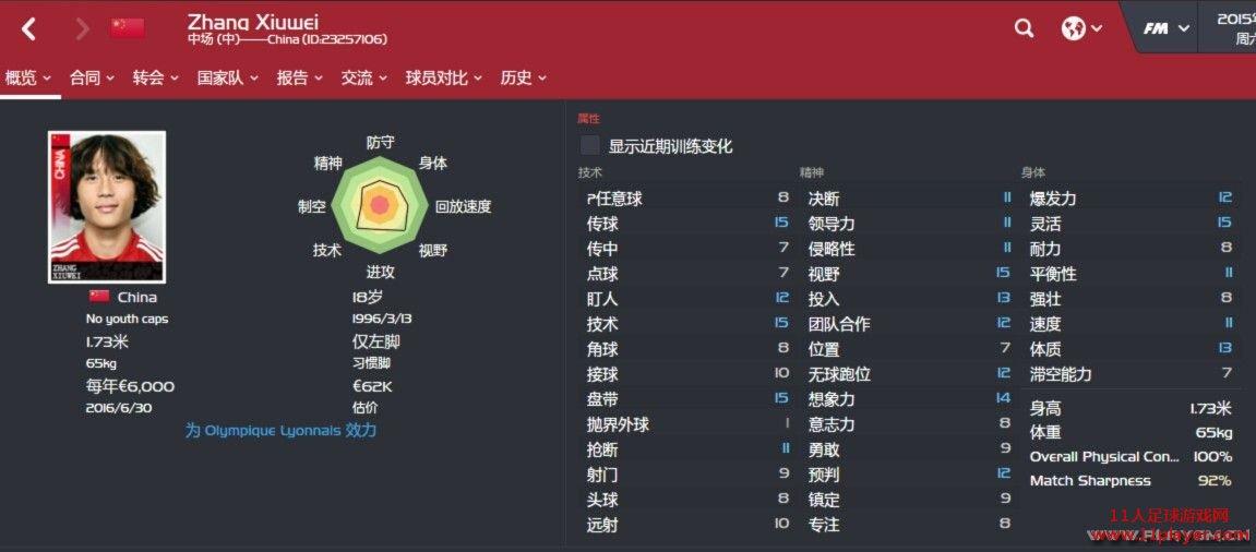 fm2016 中国海外球员补丁v1